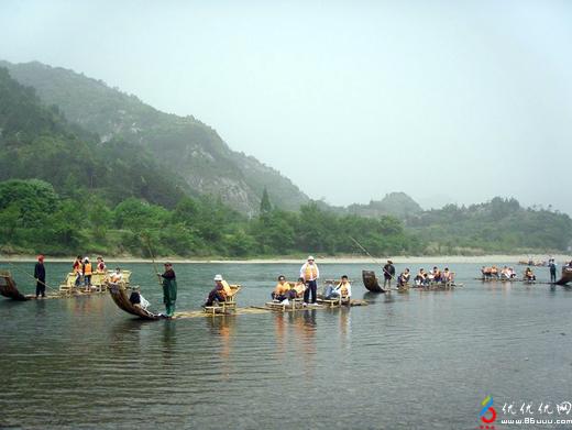 楠溪江竹筏漂流门票团购-九丈甸园景区-温州自驾亲