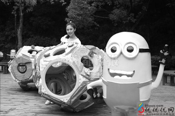 温州景山动物园小黄人欢乐卡通秀